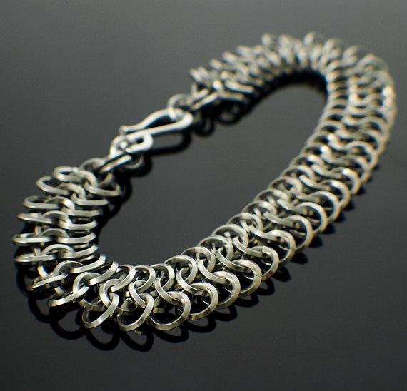 Square On Edge Aluminum European 4 in 1 Bracelet
