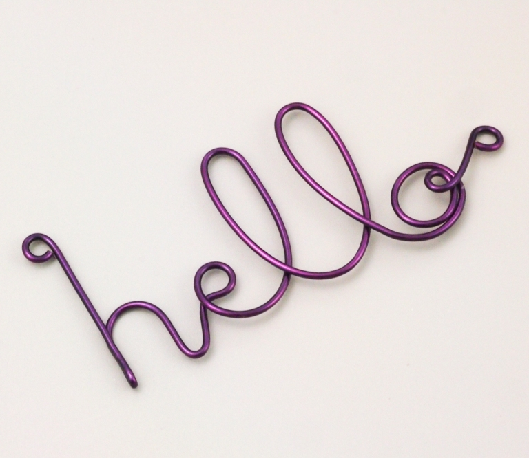 Wire Wrapped Letters