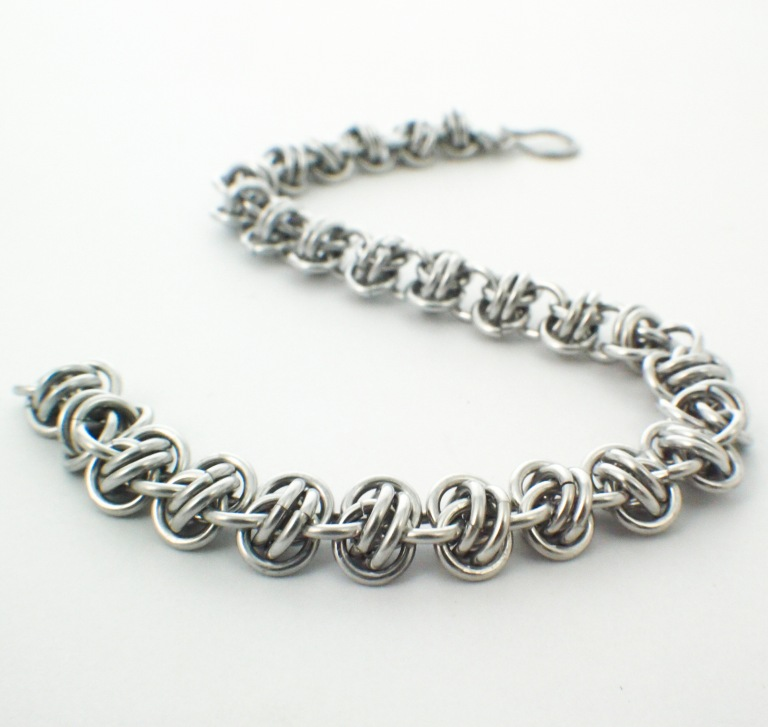 Stainless Steel Barrel Weave Bracelet