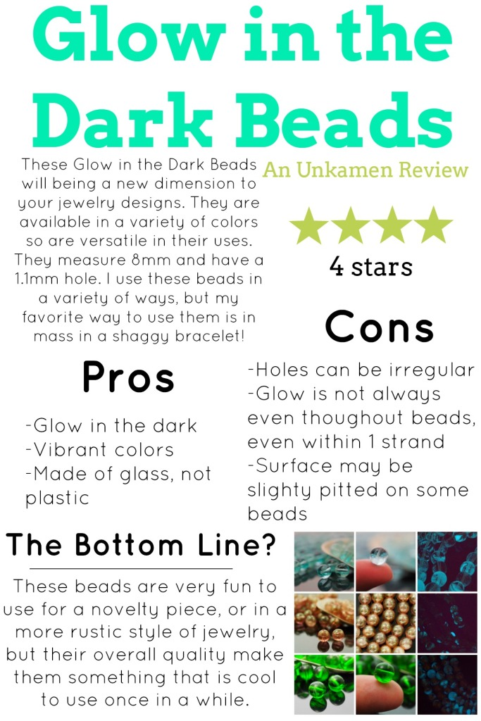glow in the dark bead review